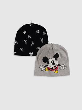 GREY - 2-pack Baby Boy's Mickey Mouse Printed Beret - 0W8217Z1
