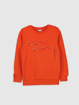 ORANGE - Boy's Letter Printed Cotton T-Shirt