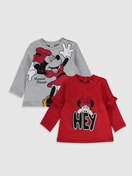 RED - 2-pack Baby Girl's Minnie Mouse Printed Sweatshirt