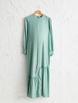 TURQUOISE - Volanlı Shabby Maternity Dress