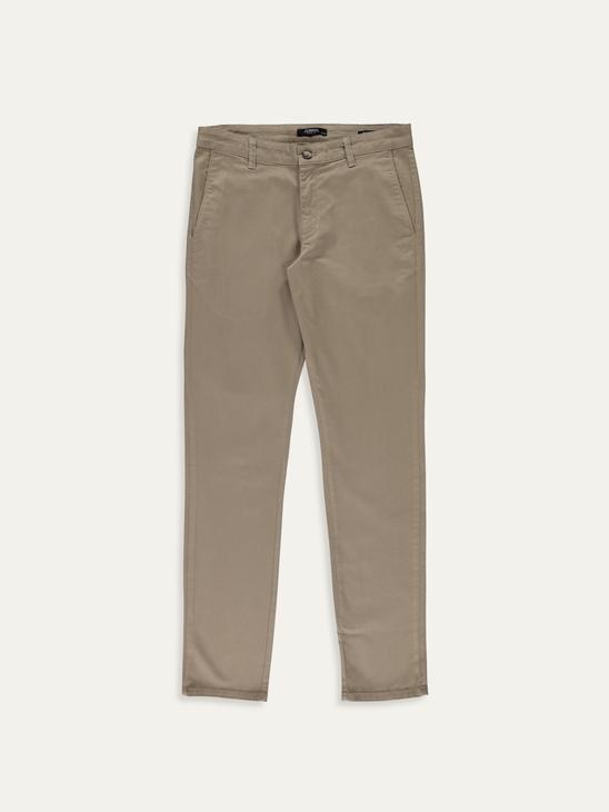 BEIGE - Extra Slim Fit Gabardine Chino Trousers - 9W2431Z8