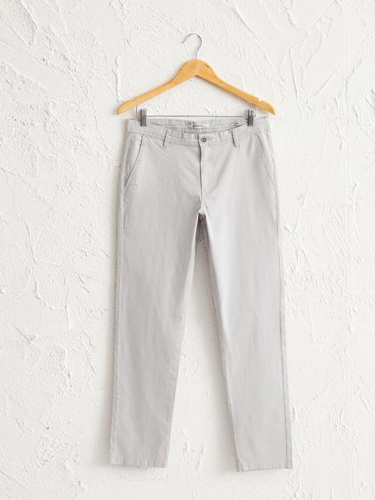 GREY - Slim Fit Chino Trousers - 0SI590Z8