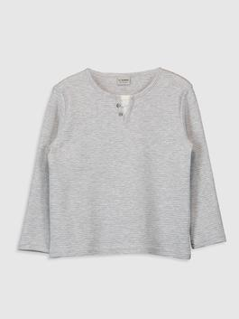 GREY - Boy's Basic T-Shirt