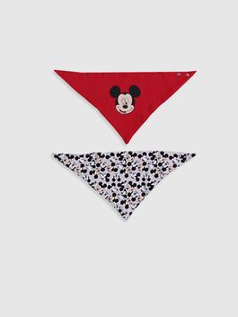 RED - 2-pack Baby Boy's Mickey Mouse Printed Bib