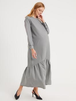 BLACK - Goose Foot Patterned Maternity Dress