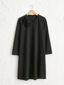 ANTHRACITE - Straight Fit Loose Fit Dress