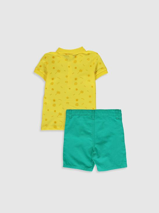 GREEN - Baby Boy's 2-pack T-Shirt and Shorts - 0S0512Z1