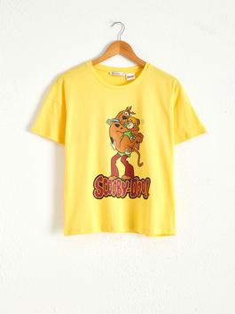YELLOW - Scooby Doo Printed Cotton T-Shirt