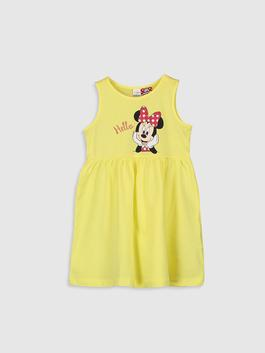 YELLOW - Baby Girl's Minnie Mouse Printed Dress