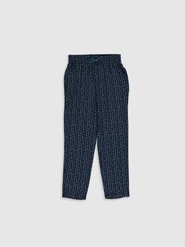 NAVY - Girl's Figured Viscose Trousers