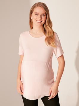 PINK - Plain Viscose Maternity T-shirt