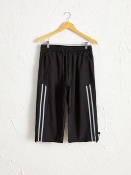 اسود - Knee Length Shorts