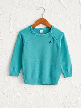 TURQUOISE - Baby Boy's Basic Tricot Jumper