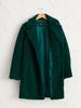 GREEN - Neckband Plush Coat - 0W2496Z8