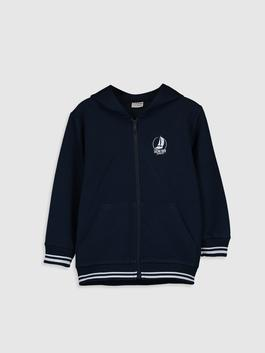 NAVY - Cardigan Track Top