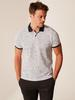 WHITE - Slim Fit Polo Neck Figured Pique T-Shirt - 0SF647Z8