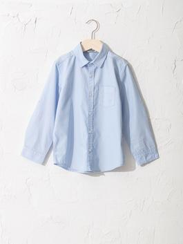 BLUE - Boy's Poplin Shirt