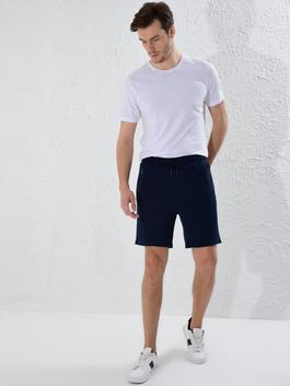 NAVY - Slim Fit Sport Shorts