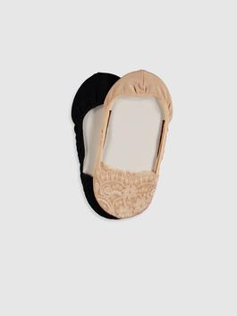 BEIGE - 2-pack Invisible Socks