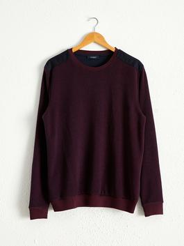 BORDEAUX - Crew Neck Basic Sweatshirt