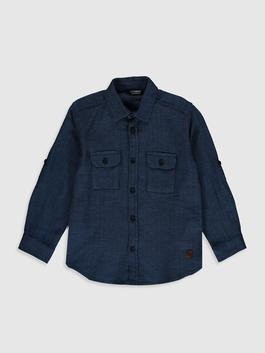NAVY - Boy's Cotton Shirt