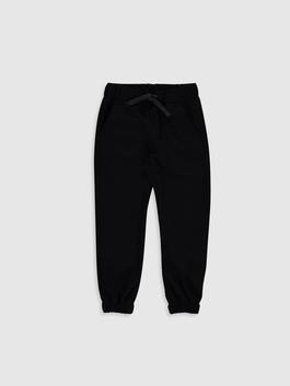 BLACK - Boy's Slim Twill Trousers