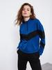 BLUE - XSIDE Neckband Colour-Block Sweatshirt - 0WCO52Z8
