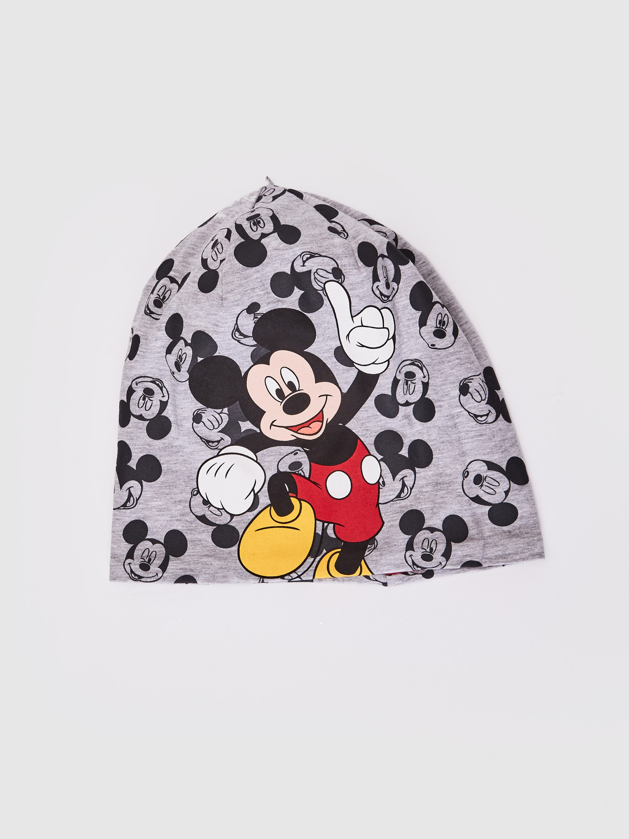 GREY - Boy Mickey Mouse Licensed Cotton Jersey Beanie - 0S6295Z4