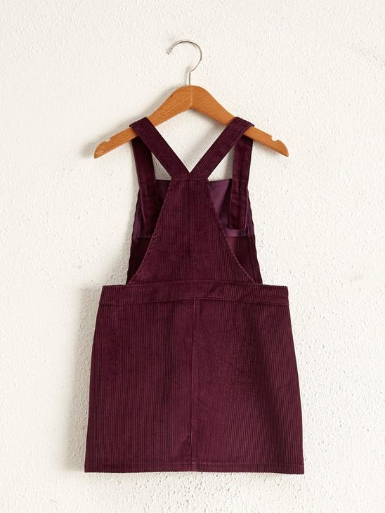 PURPLE - Girl's Velvet Overall Dress - 0W5382Z4