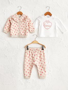 PINK - 3-pack Baby Girl's Set