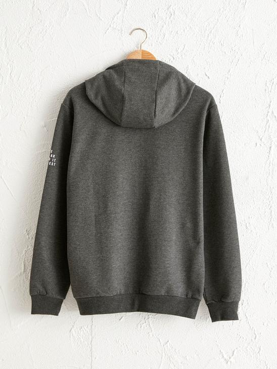 ANTHRACITE - Zip-Down Hoodie - 0W9982Z8
