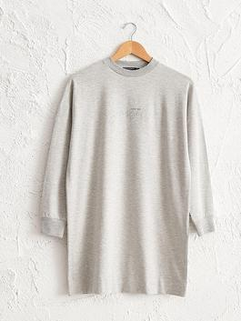GREY - Letter Printed Tunic