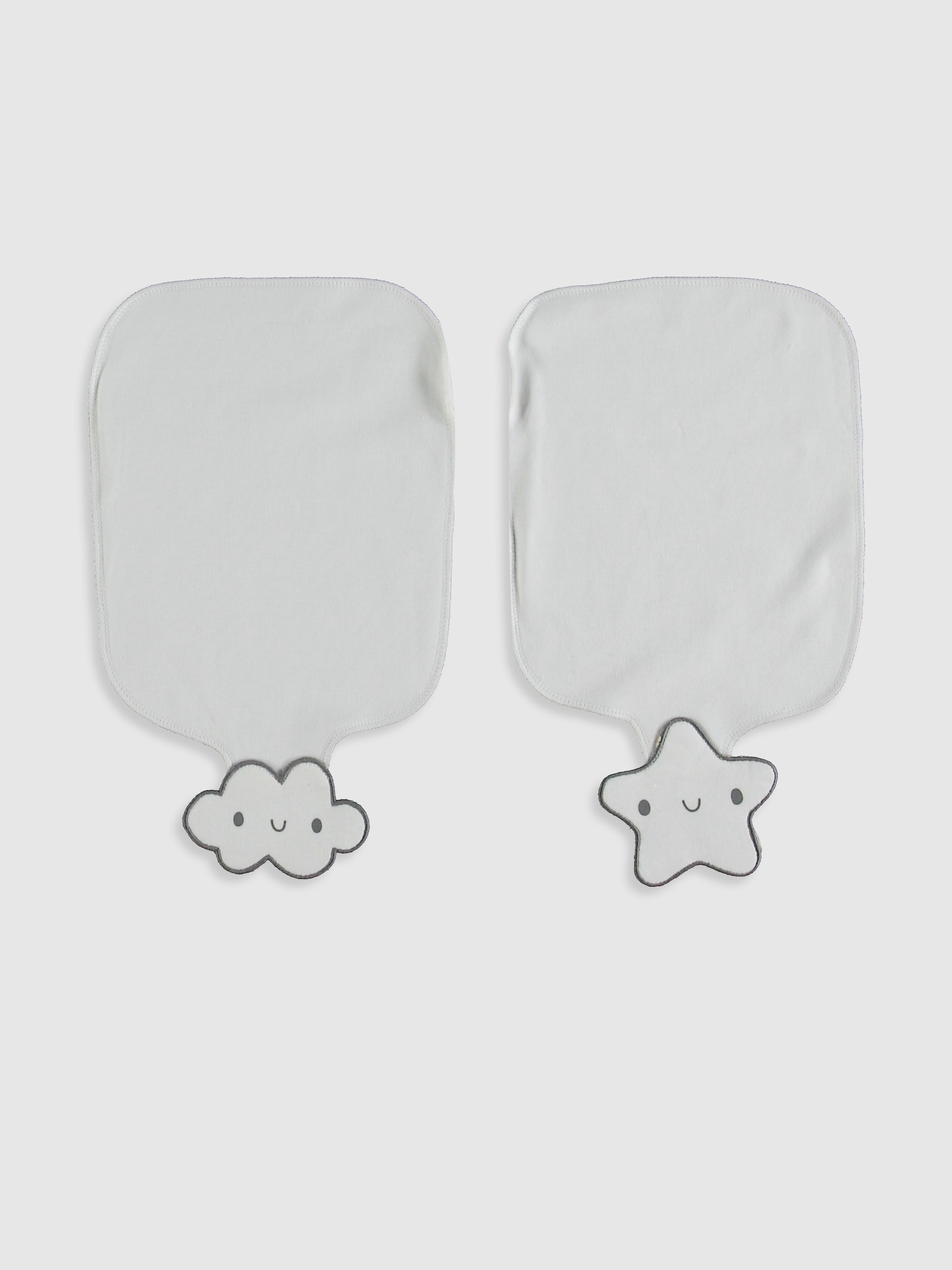 WHITE - 2-pack Baby Girl's Sweat Cloth - 0W4757Z1