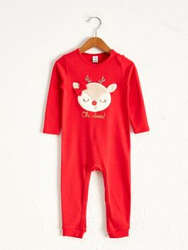 RED - Baby Boy's Printed Jumpsuit