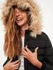 BLACK - XSIDE Hooded Faux Fur Detailed Thick Parka - 0WDF18Z8