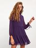 PURPLE - XSIDE Textured Fabric Chiffon Dress - 0WDF06Z8
