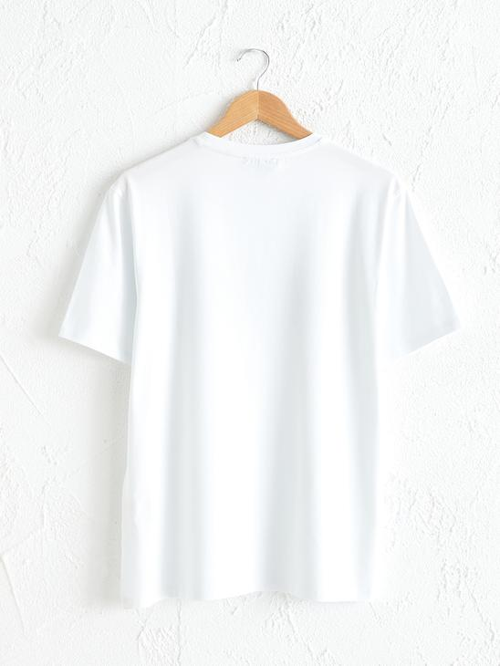 WHITE - Comfortable Fit Crew Neck Printed T-Shirt - 0SR486Z8