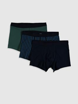 NAVY - 3-pack Stretch Fabric Standard Fit Boxers