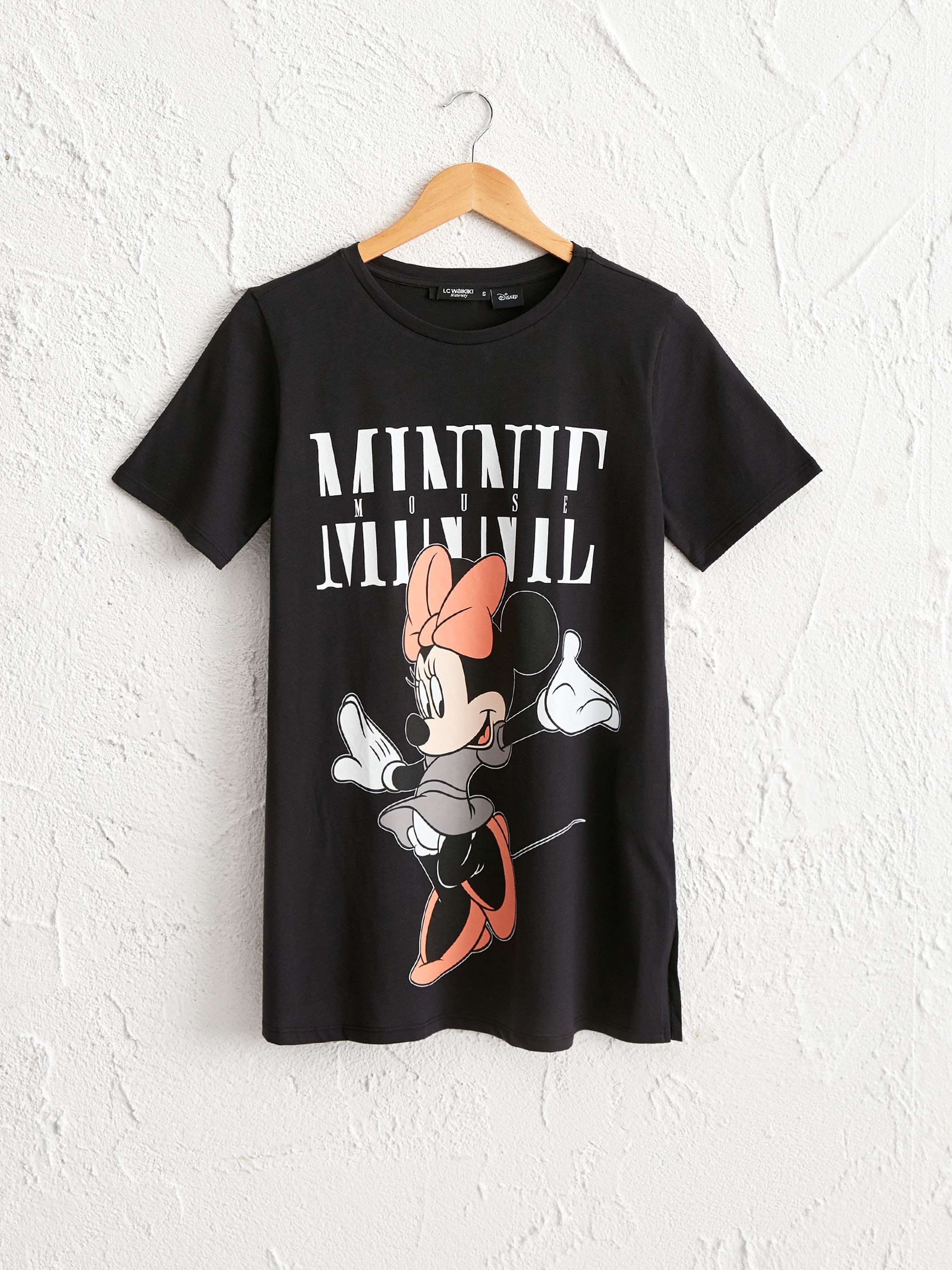 ANTHRACITE - Minnie Mouse Printed Cotton Maternity T-Shirt - 0WCK03Z8