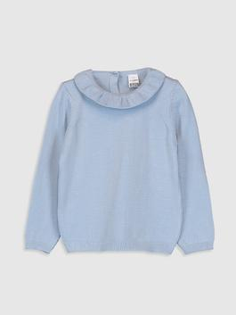 BLUE - Baby Girl's Tricot Jumper