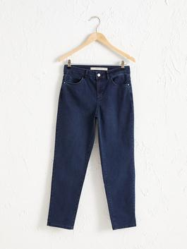NAVY - Ankle Length Regular Leg Jeans