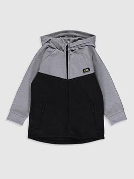 ANTHRACITE - Boy's Zip-Down Hoodie