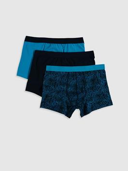 TURQUOISE - 3-pack Stretch Fabric Standard Fit Boxers
