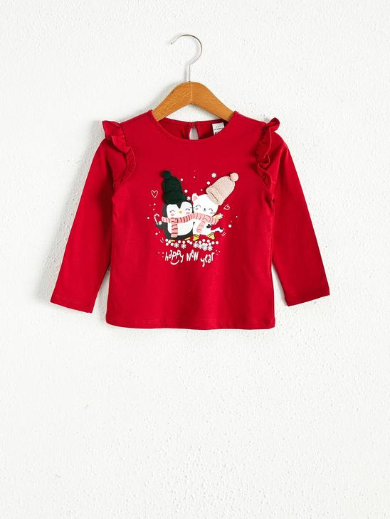 RED - Baby Girl Christmas Themed T-Shirt - 0WBN62Z1