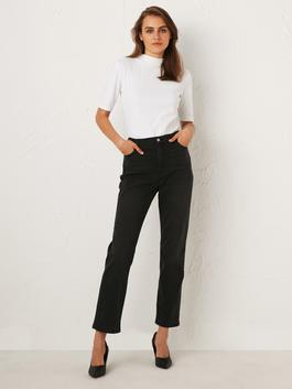ANTHRACITE - Ankle Length Loose Leg Jeans