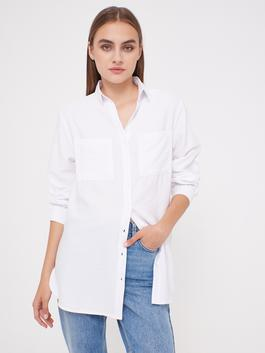 WHITE - Pocket Detailed Loose Fit Shirt