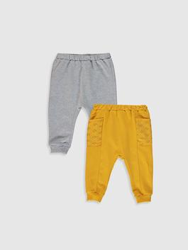 YELLOW - 2-pack Baby Girl's Trousers