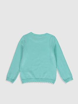 TURQUOISE - Girl's Figured Lightweight Tricot Jumper - 0W5070Z4