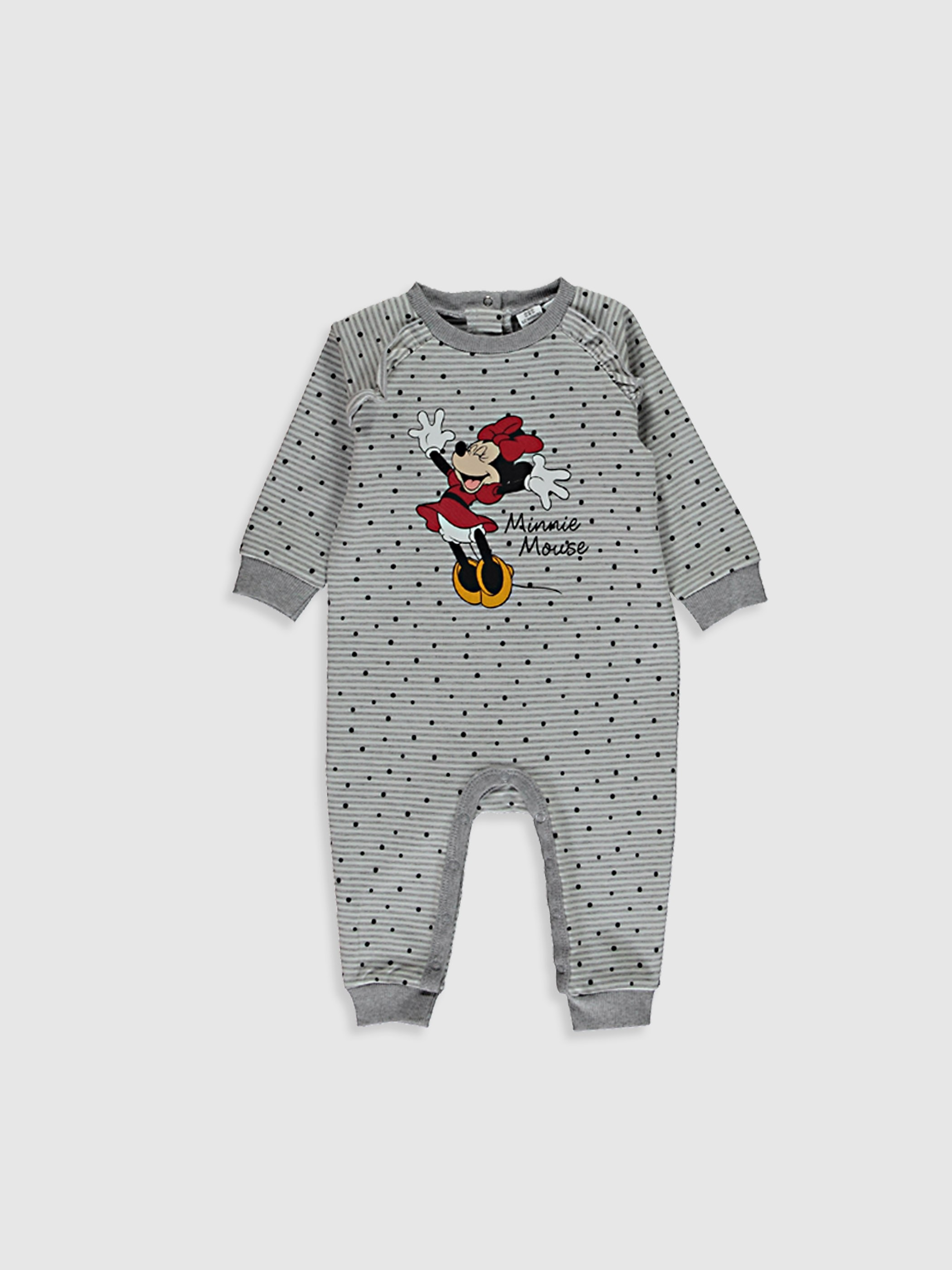 GREY - Baby Girl's Minnie Mouse Printed Jumpsuit - 0W8119Z1