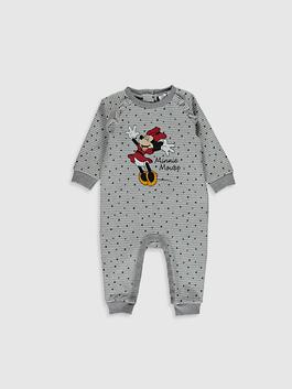 GREY - Baby Girl's Minnie Mouse Printed Jumpsuit